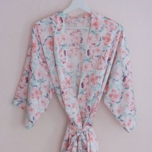 Small Floral Satin Robe